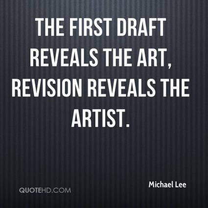 first draft quote 1